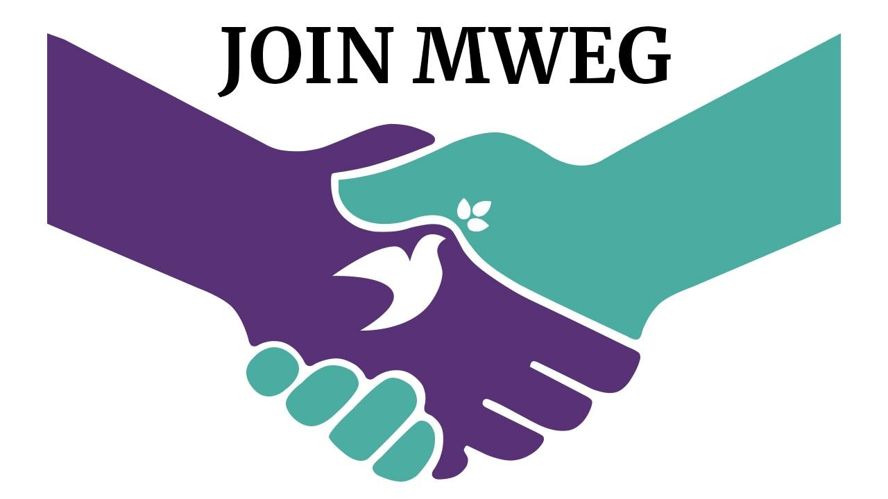 Join MWEG hands clasped with dove