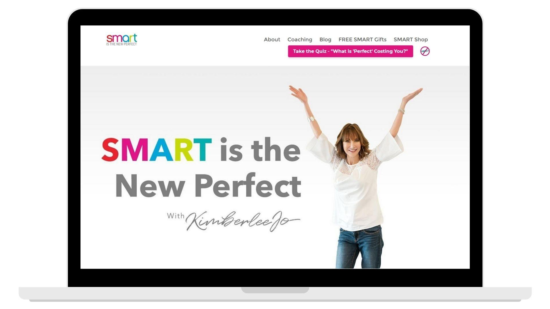 Smart is the New Perfect's Website image