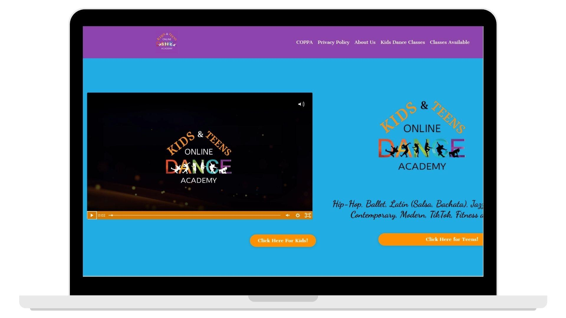 computer with Bachata Vida's website