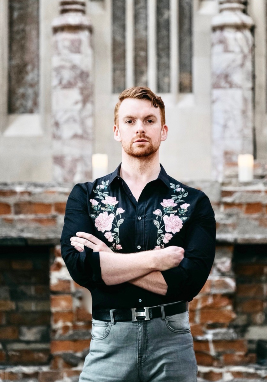 Joseph Massie floral designer and artist wearing floral shirt - Viva La Flora Live Podcast