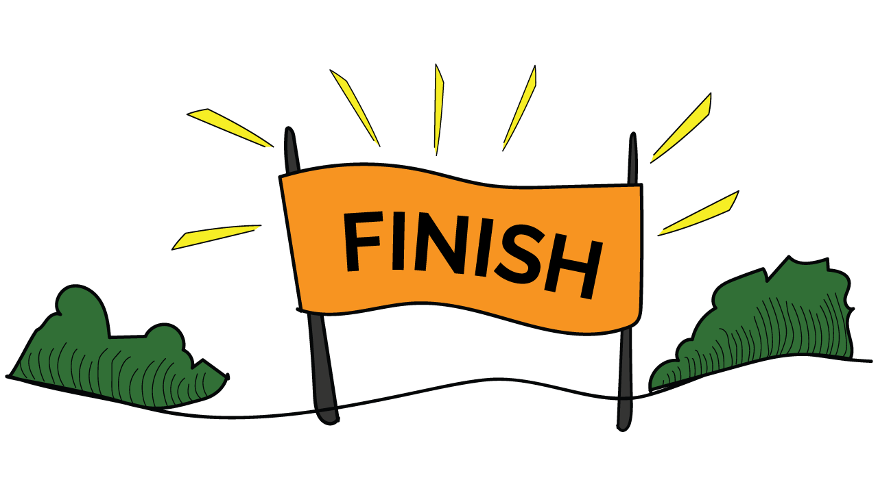 Executive functioning skill of Goal-directed Persistence - the finish line