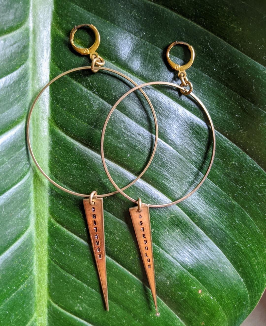 SHITSHOW/AFTERGLOW earrings