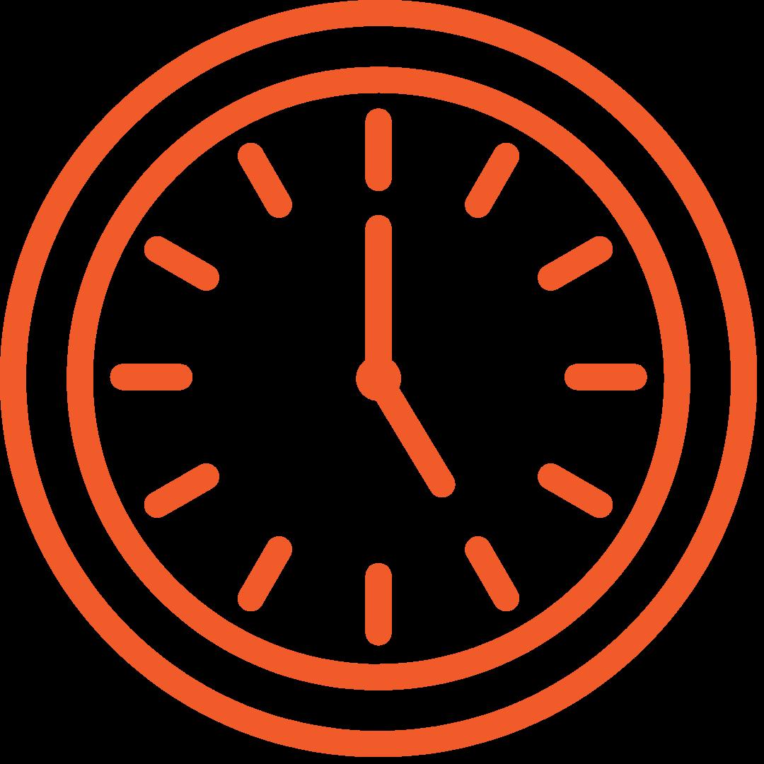 clock graphic showing 5 o'clock