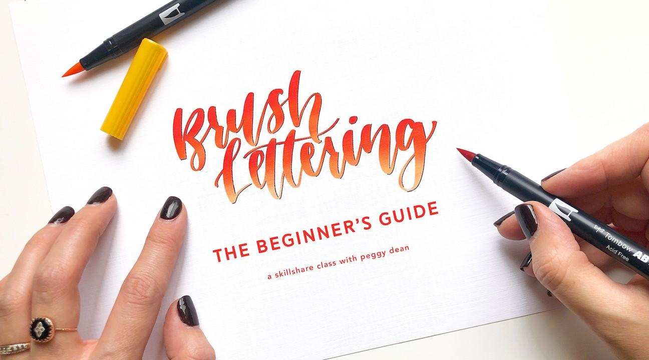 learn brush lettering