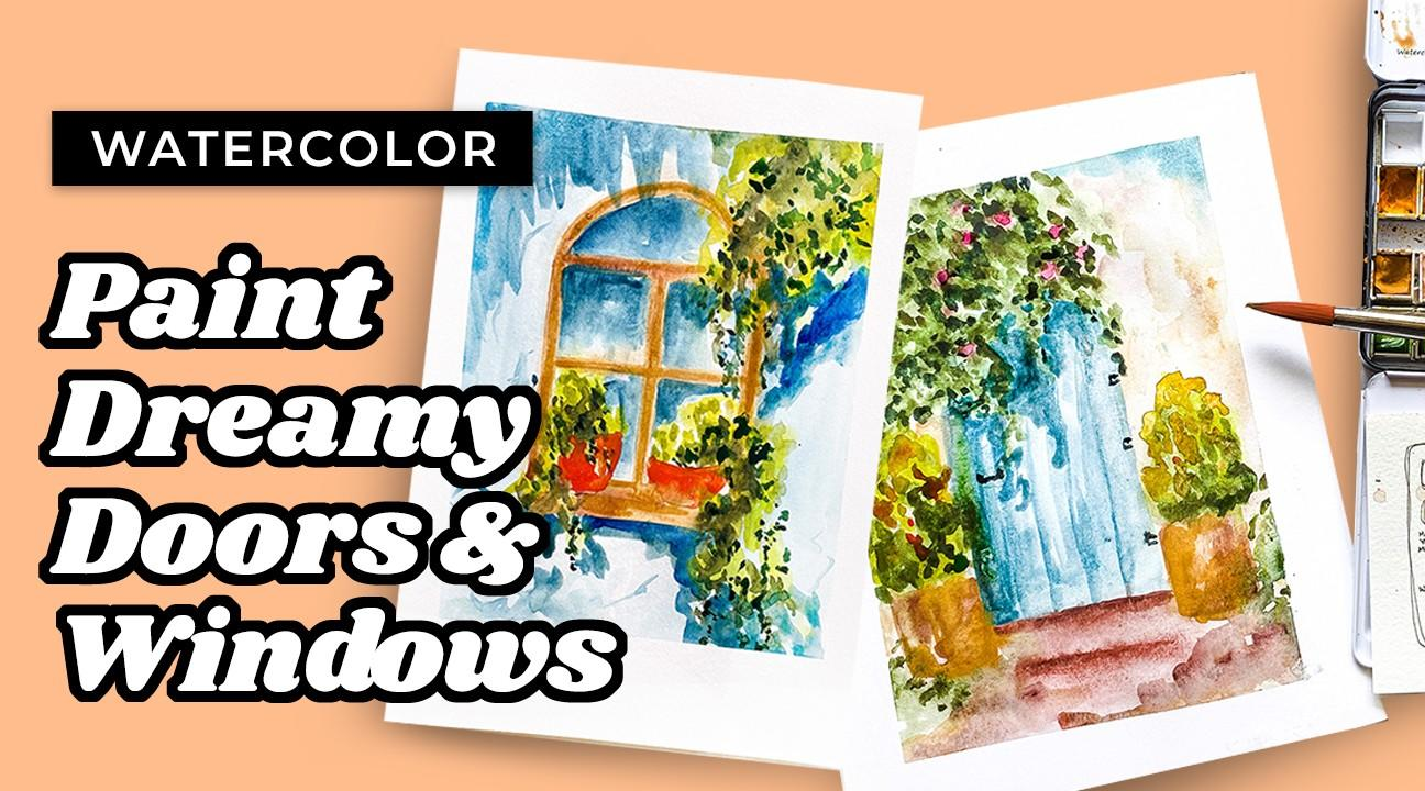 watercolor door tutorial