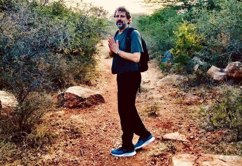 Brad Wetzler hiking yogi prayer hands