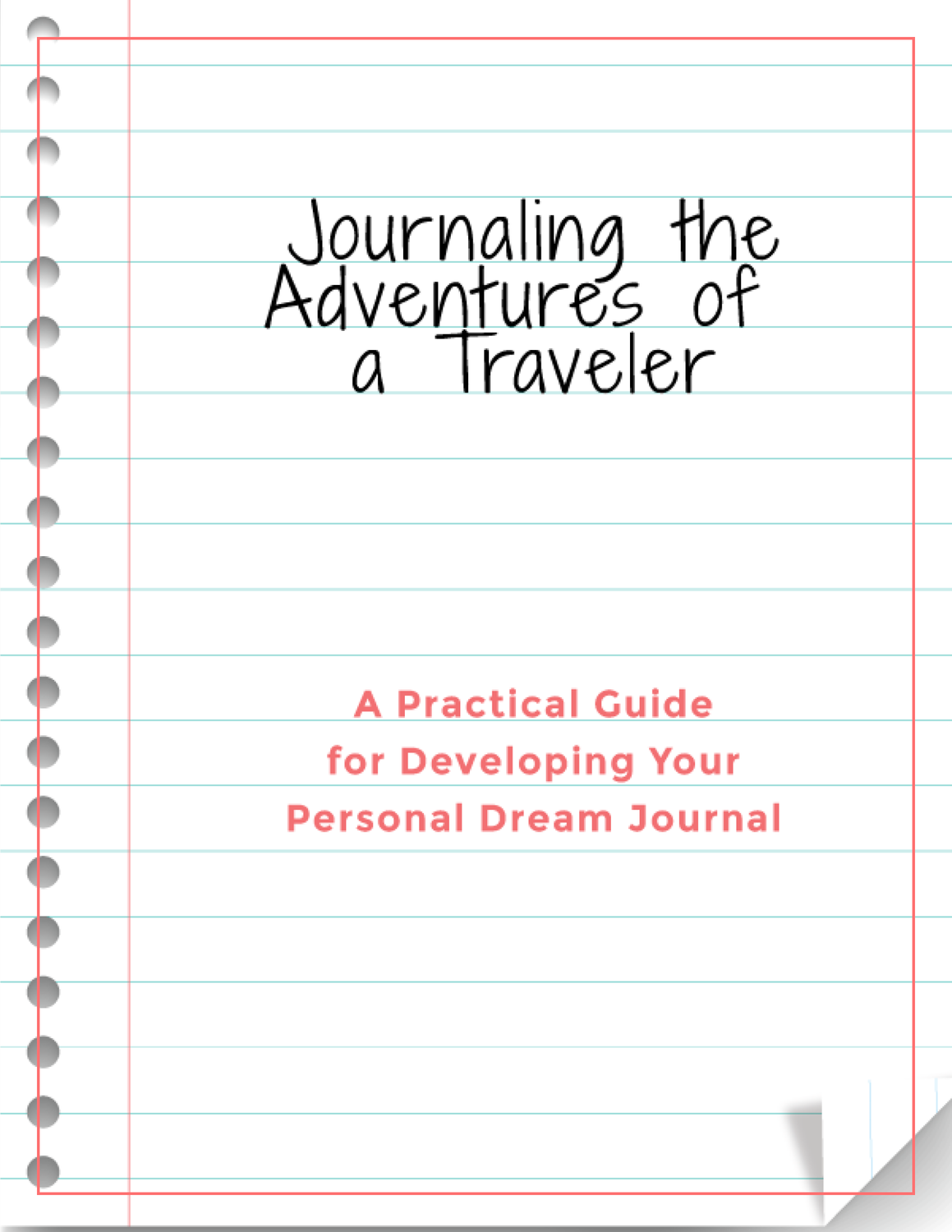 FREE DREAM JOURNAL TEMPLATE PAGES The Easy Steps To Unlock Your Dream Journal