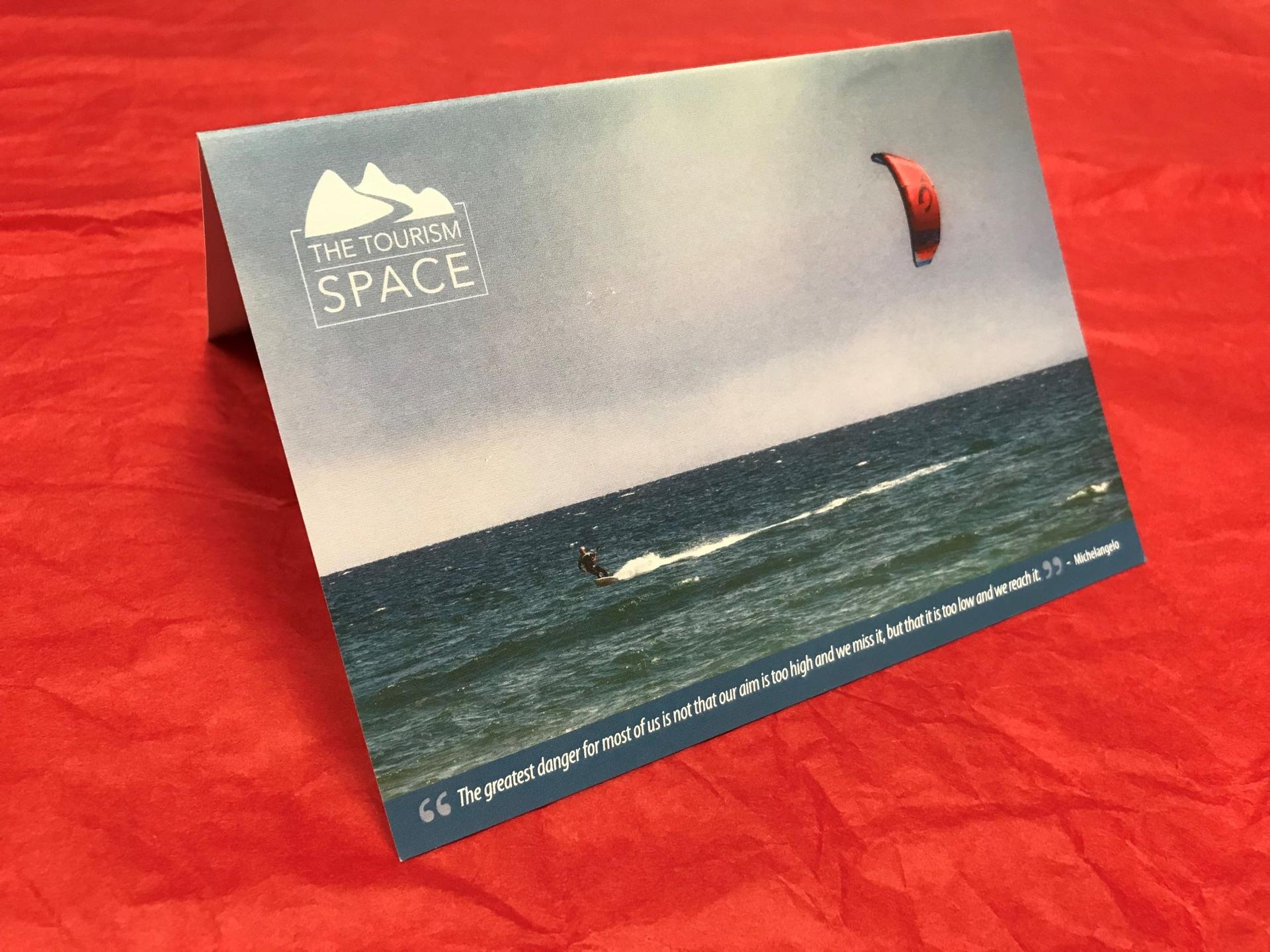 The Tourism Space Gift Voucher comes in a beautiful gift card to give to tourism business owners and managers.