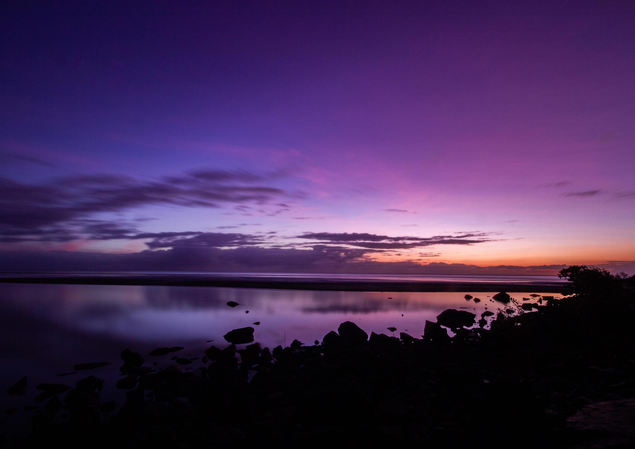 Long exposure sunrise over the sea