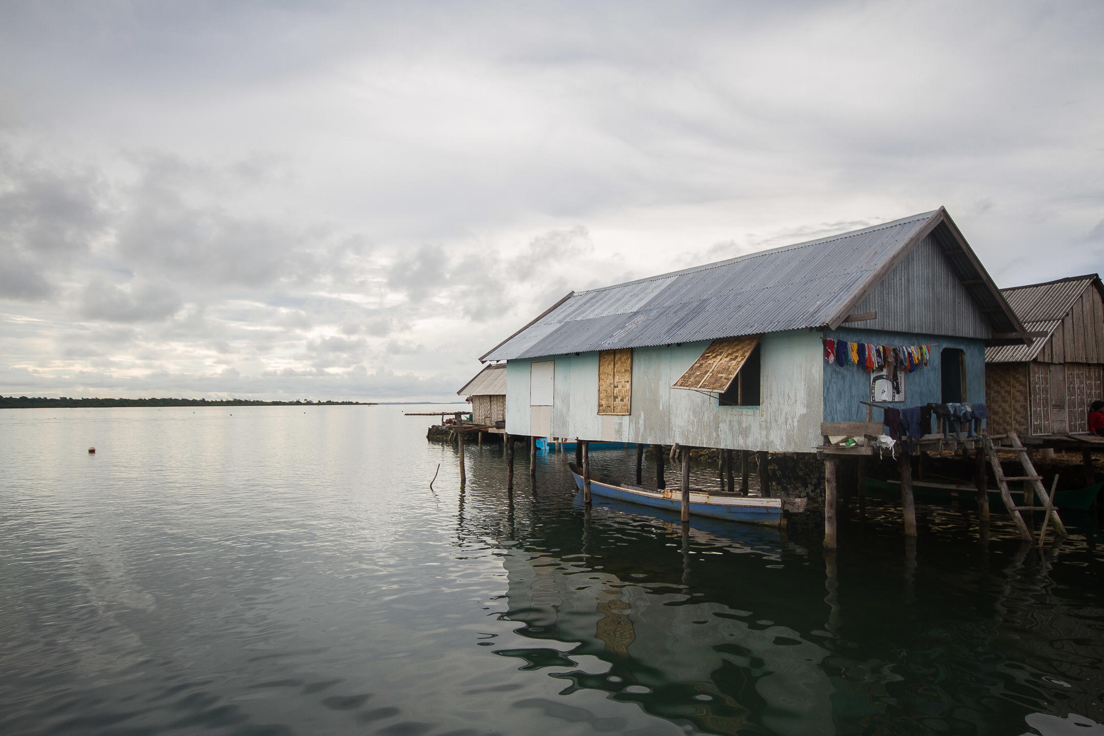The last house in a sea gypsy village