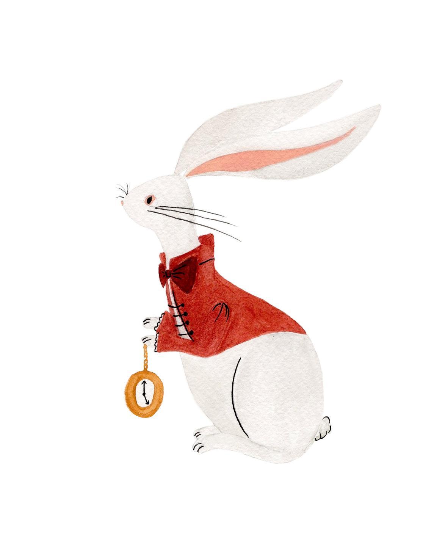 white rabbit art