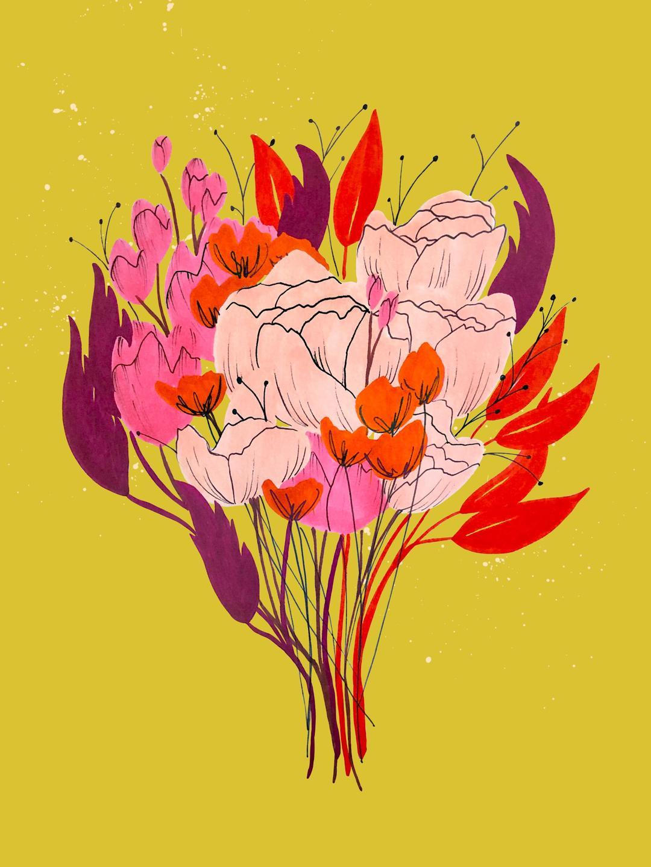flower bouquet art