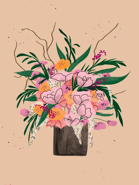 floral illustration peggy dean