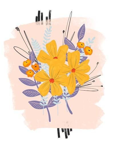 yellow flower art