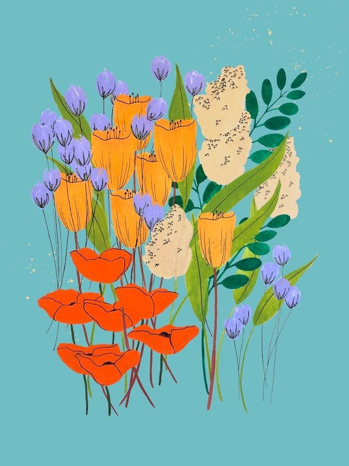 bright flowers artist