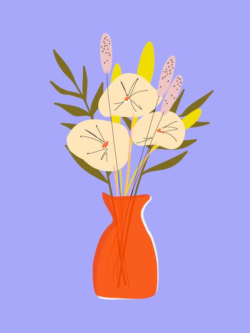 simple bouquet art