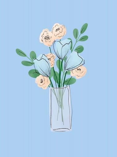 simple flower art