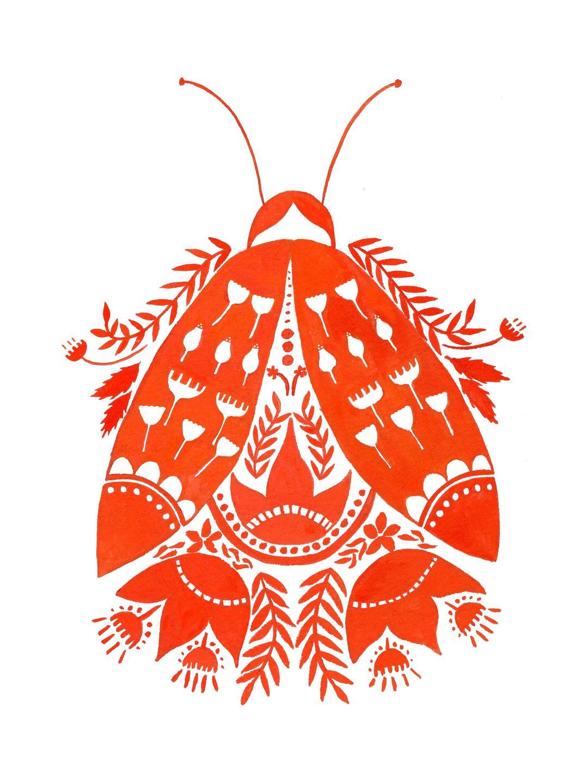 beetle folk art
