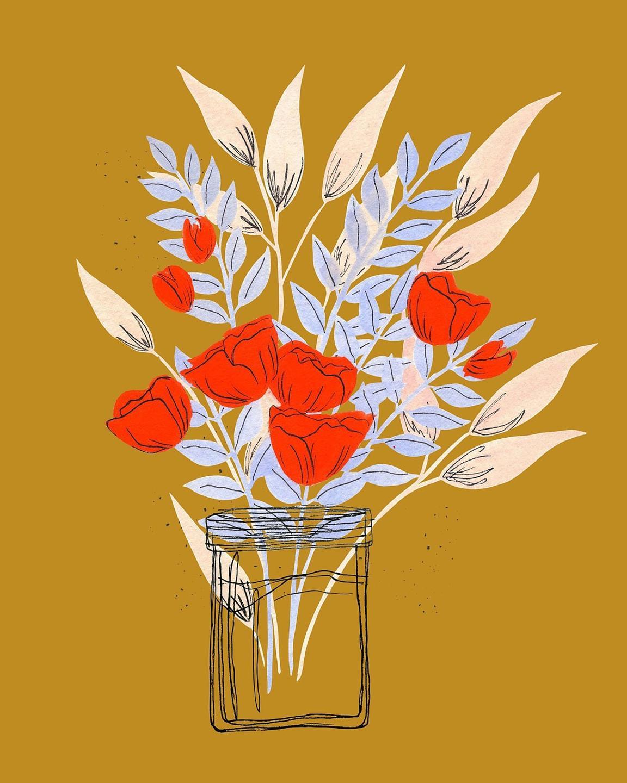 edgy flower art