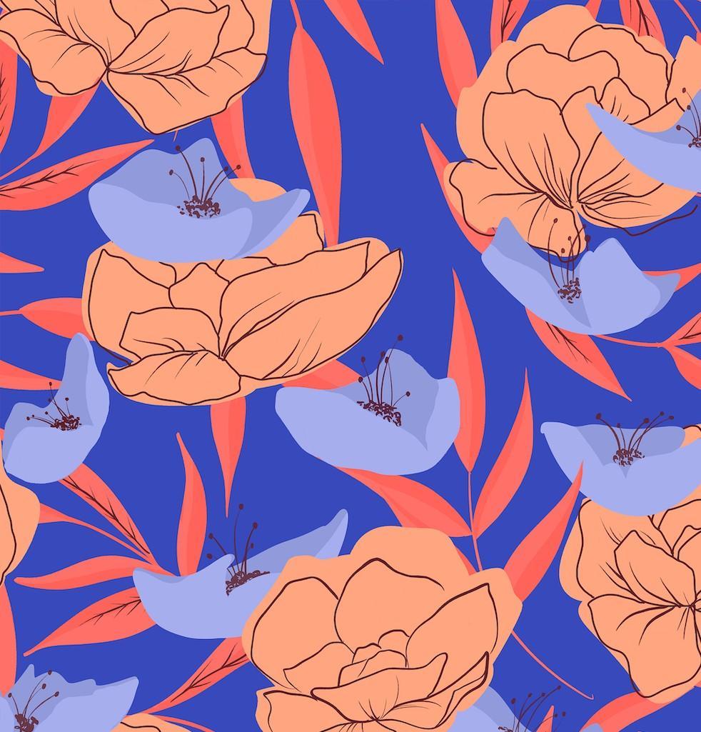 bright flower pattern