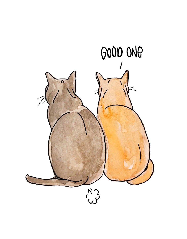 funny cat art