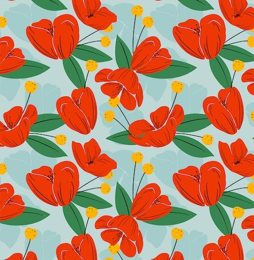 poppy flower pattern