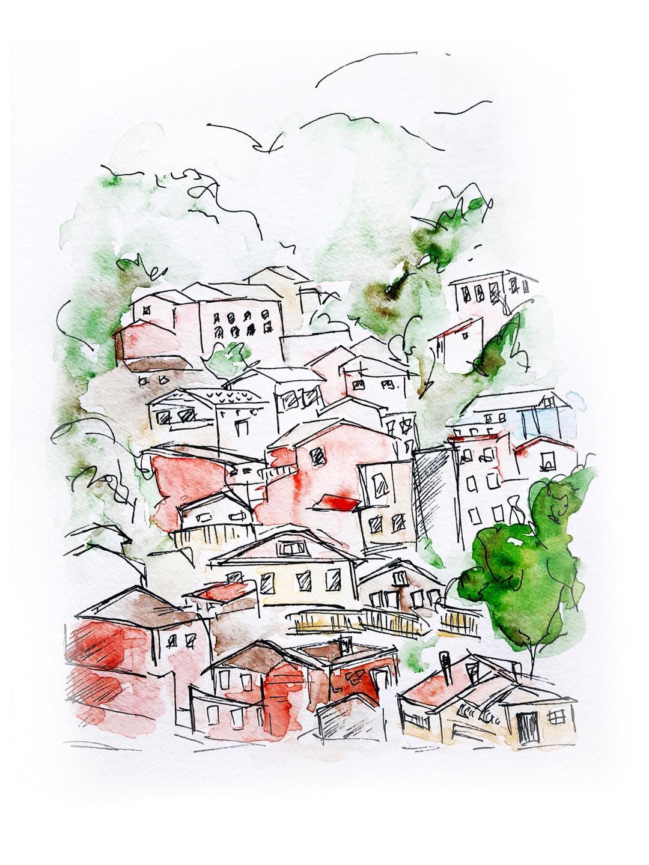 italy urban sketch