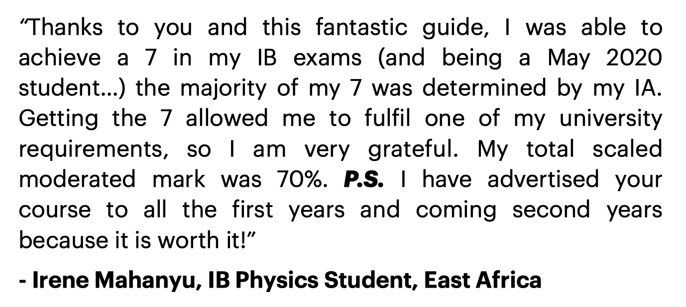IB Physics IA Guide Review 1