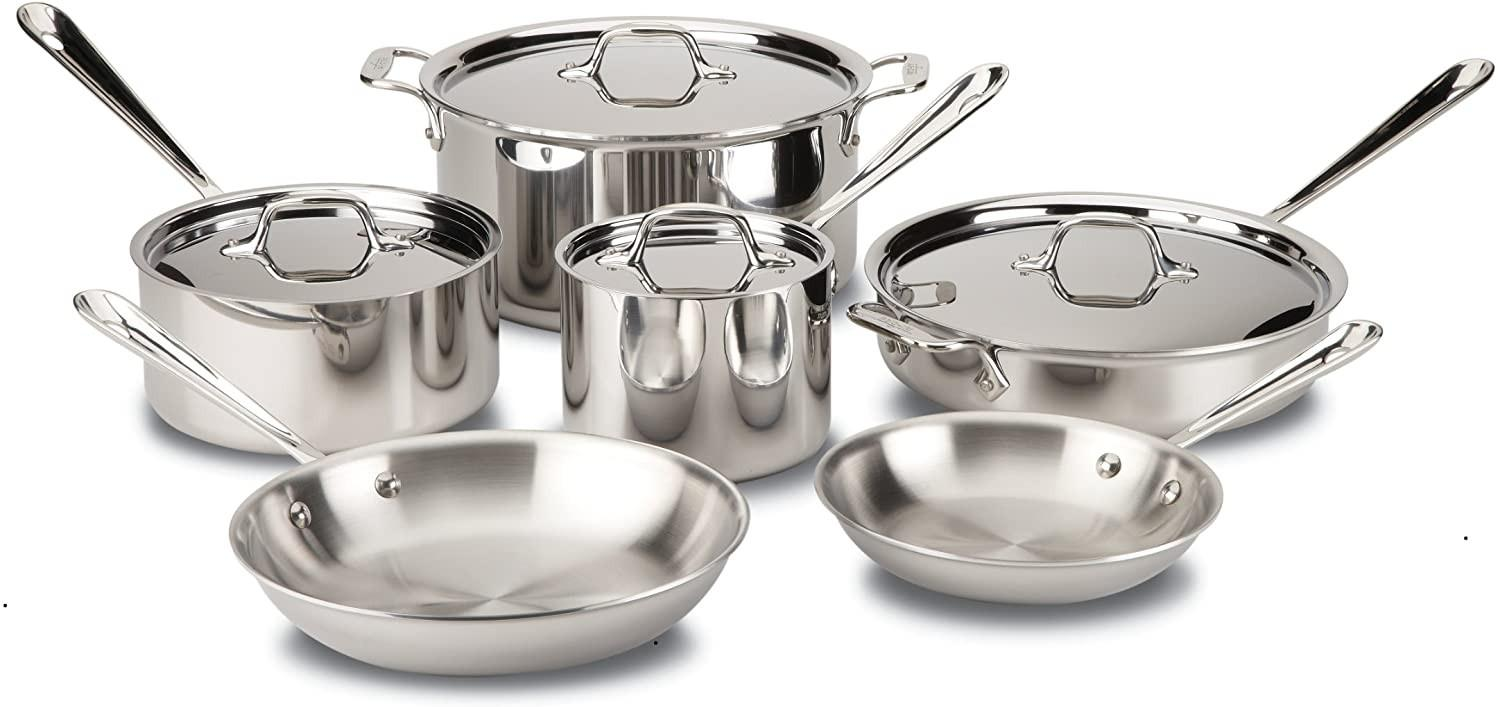 All Clad 3-ply pots and pans set