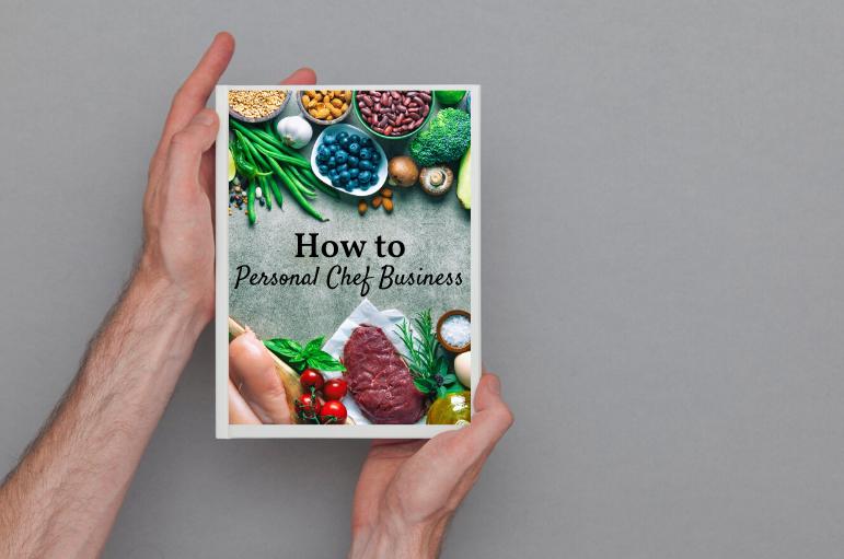 graphic design personal chef cookbook cover