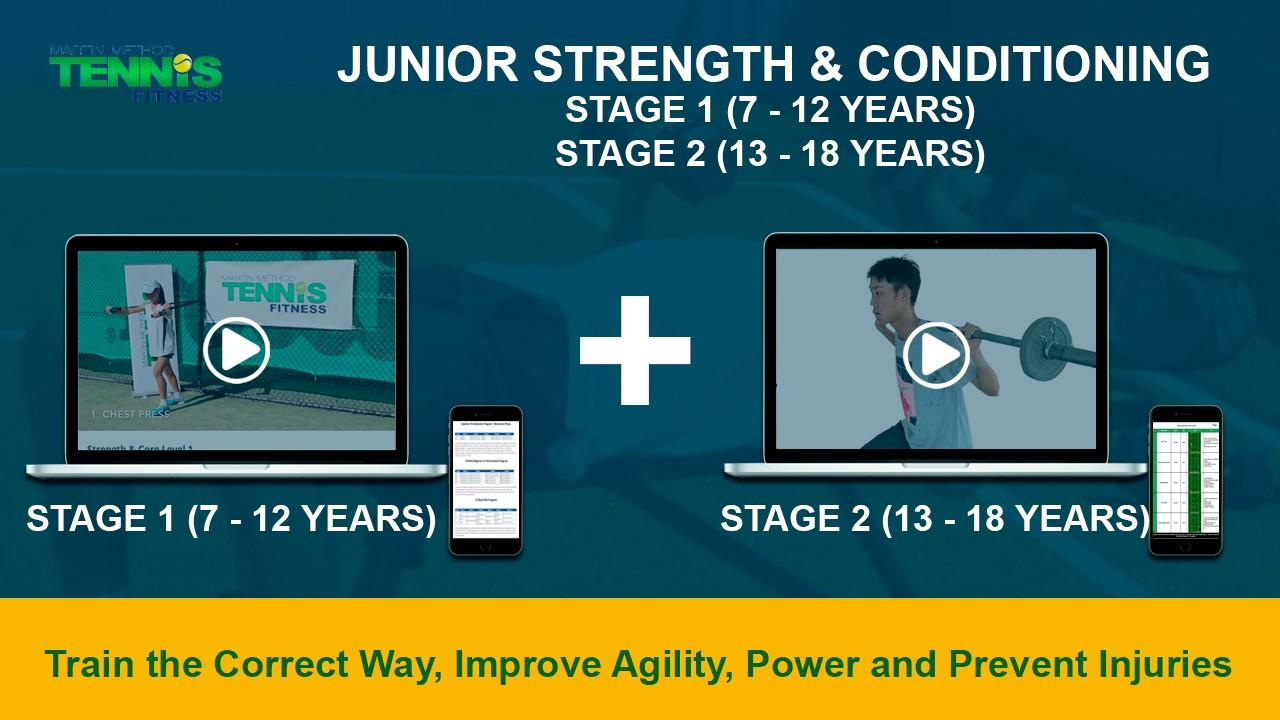 IMAGE OF TENNIS EXERCISES FOR JUNIOR TENNIS PLAYERS