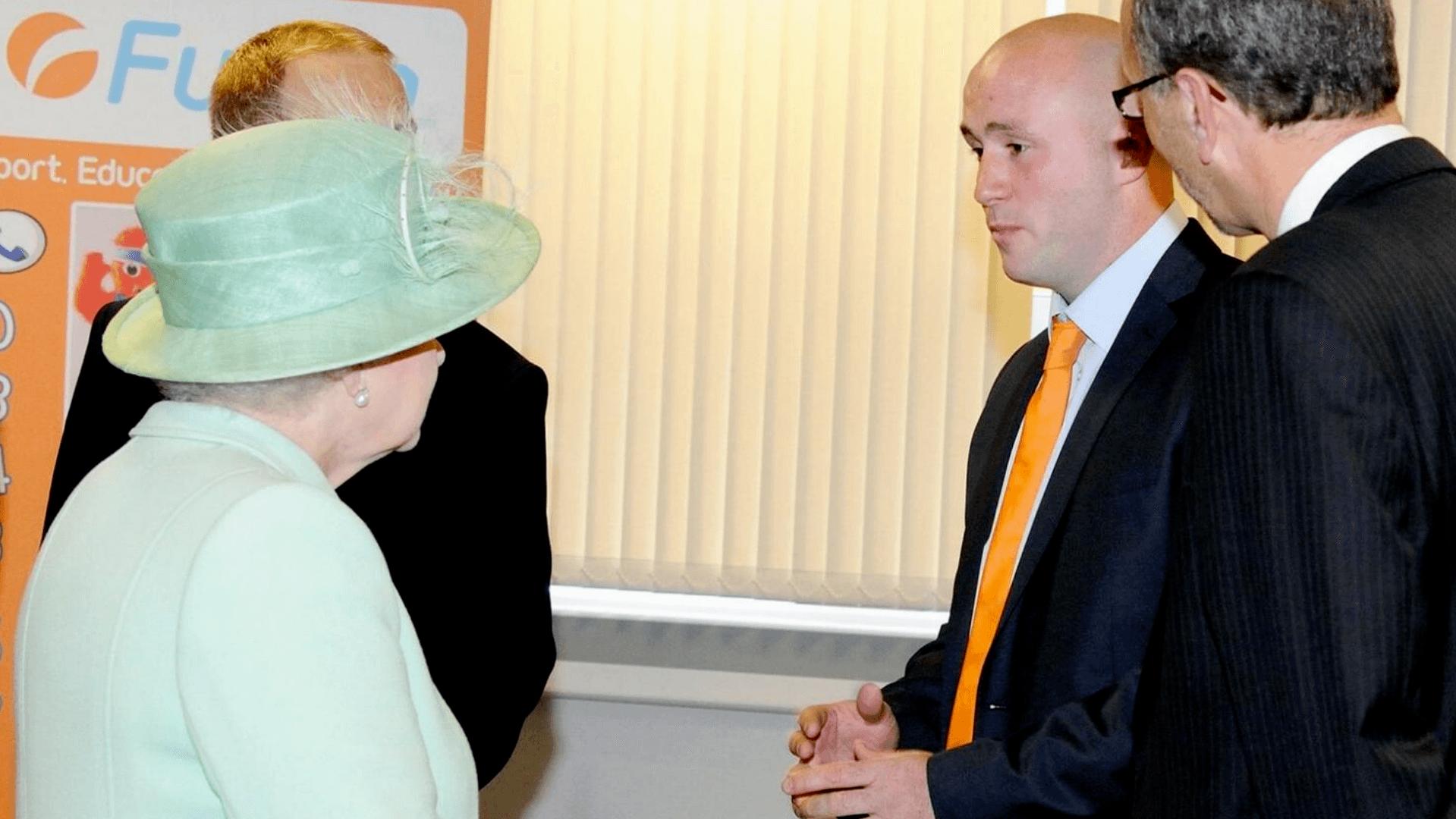 Kieran Fletcher Meeting HM The Queen