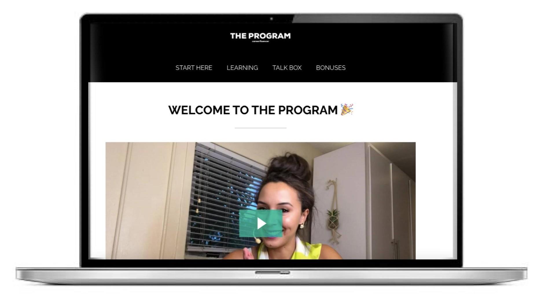 the program careerfluencer