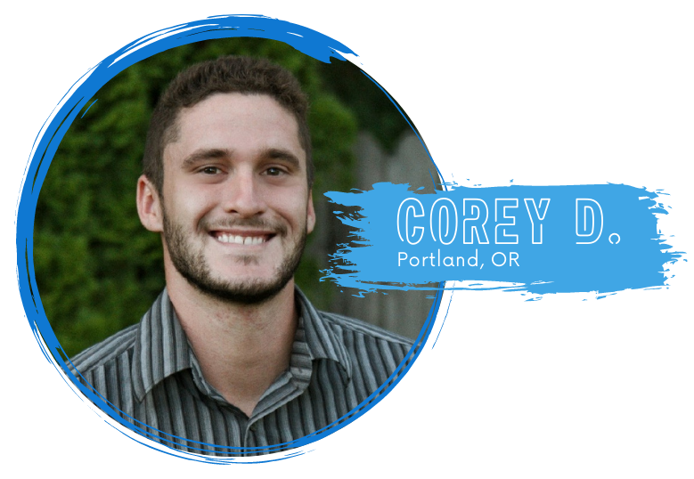 Portrait of Corey D. (white male) from Portland, OR