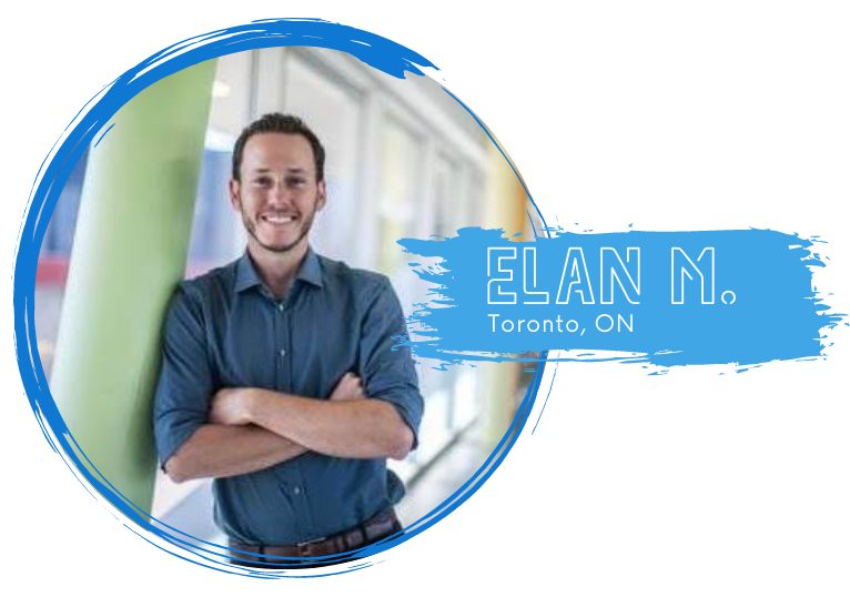 Portrait of Elan M. (white male) from Toronto Ontario