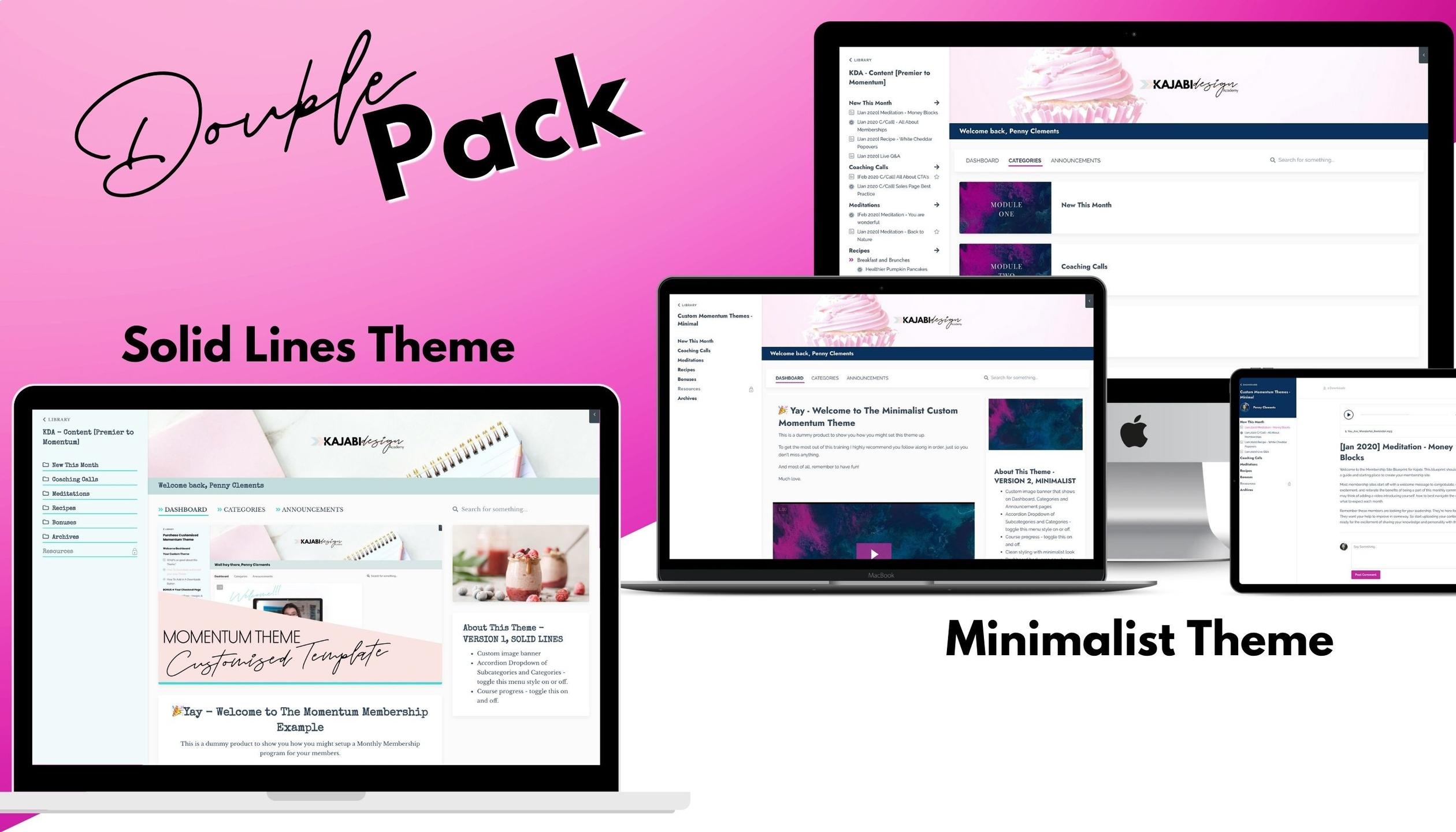 Kajabi product theme templates