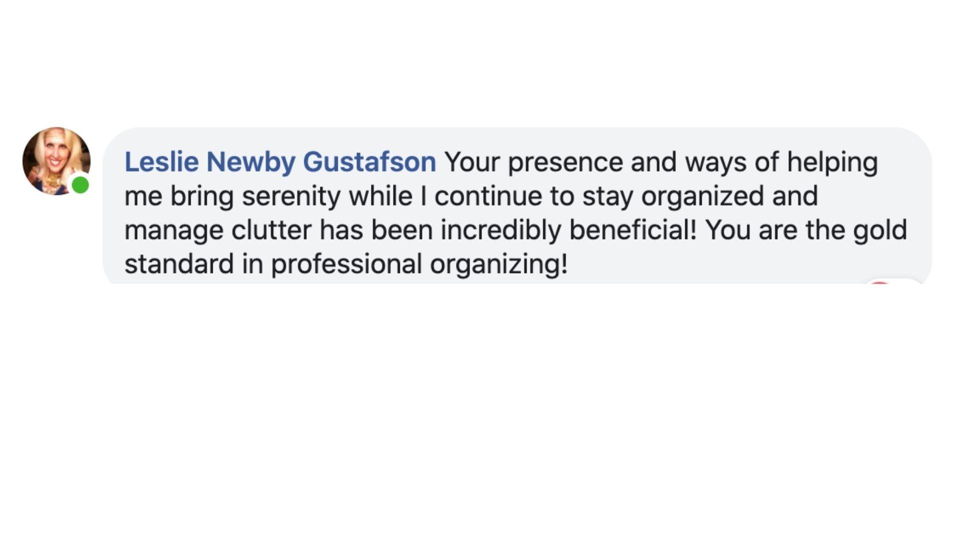 Facebook Testimonial Screenshot