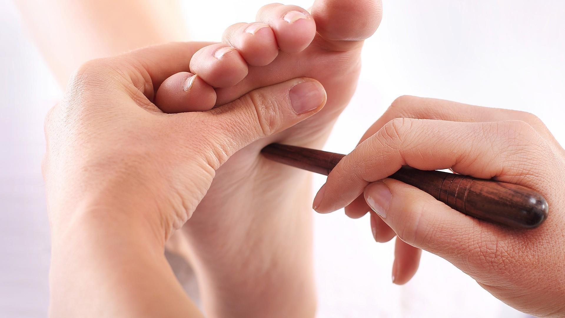 Thai Foot Reflexology done with stick or hands Thai Foot Reflexology available at pureBalance Wellness in Mississauga