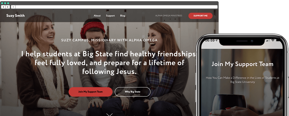 DIY Missionary Support Raising Website Course