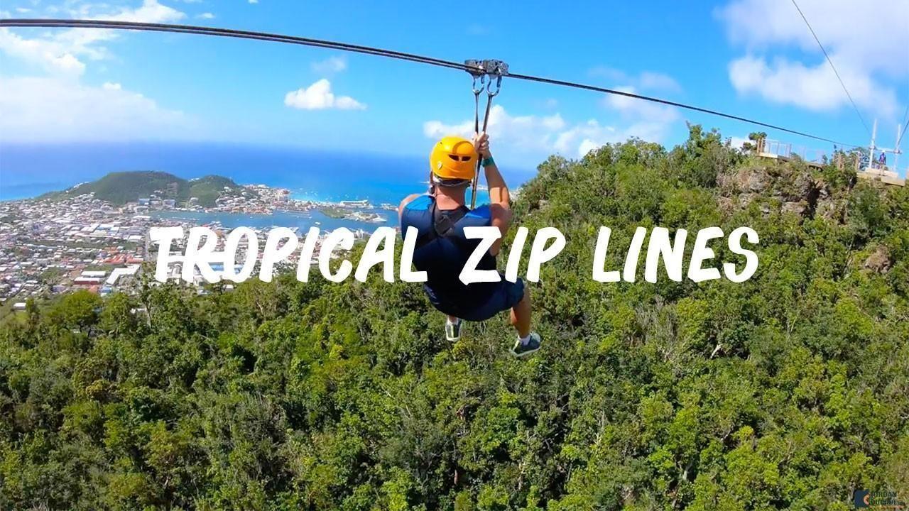 Tropical Zip Lines in St. Maarten