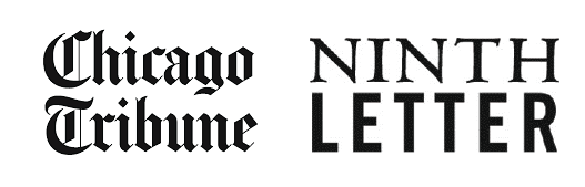 Chicago Tribune and literary magazine Ninth Letter logos