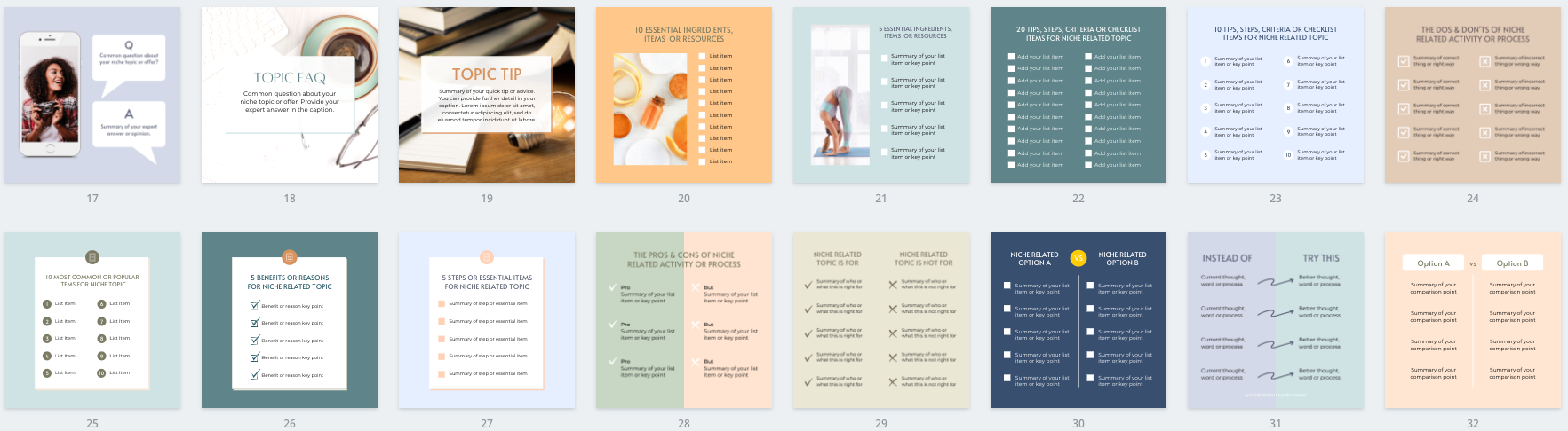 Facebook & Instagram Post Canva Templates