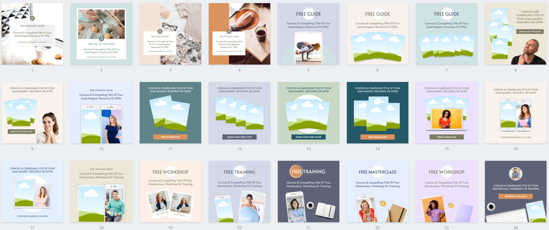 Lead Magnet & PDF Guide Canva Templates