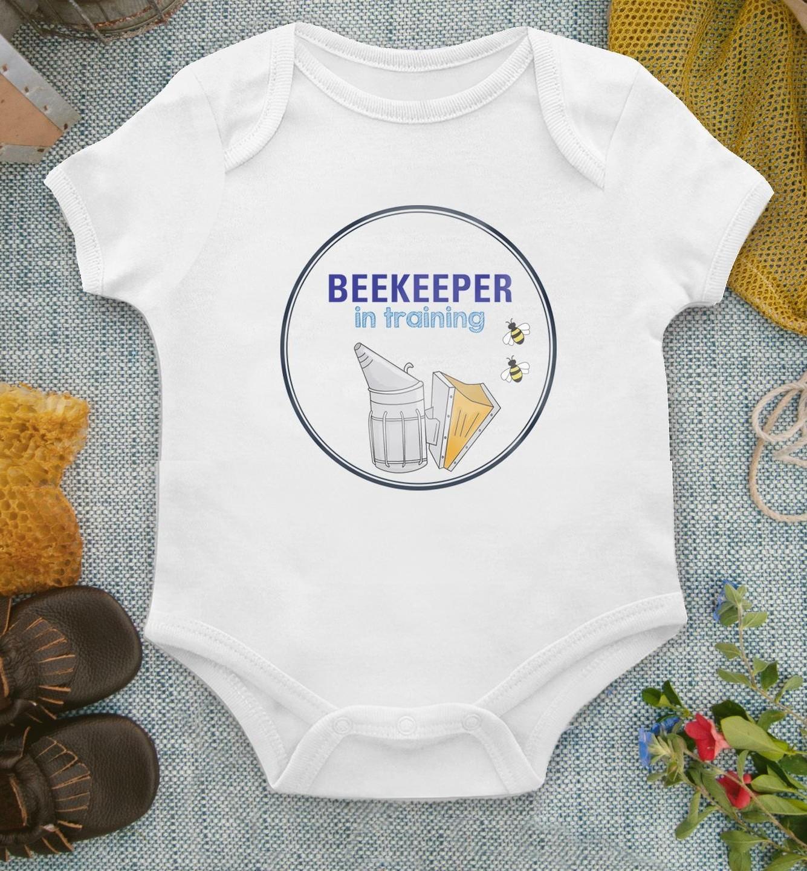 beekeeper in training baby onesie