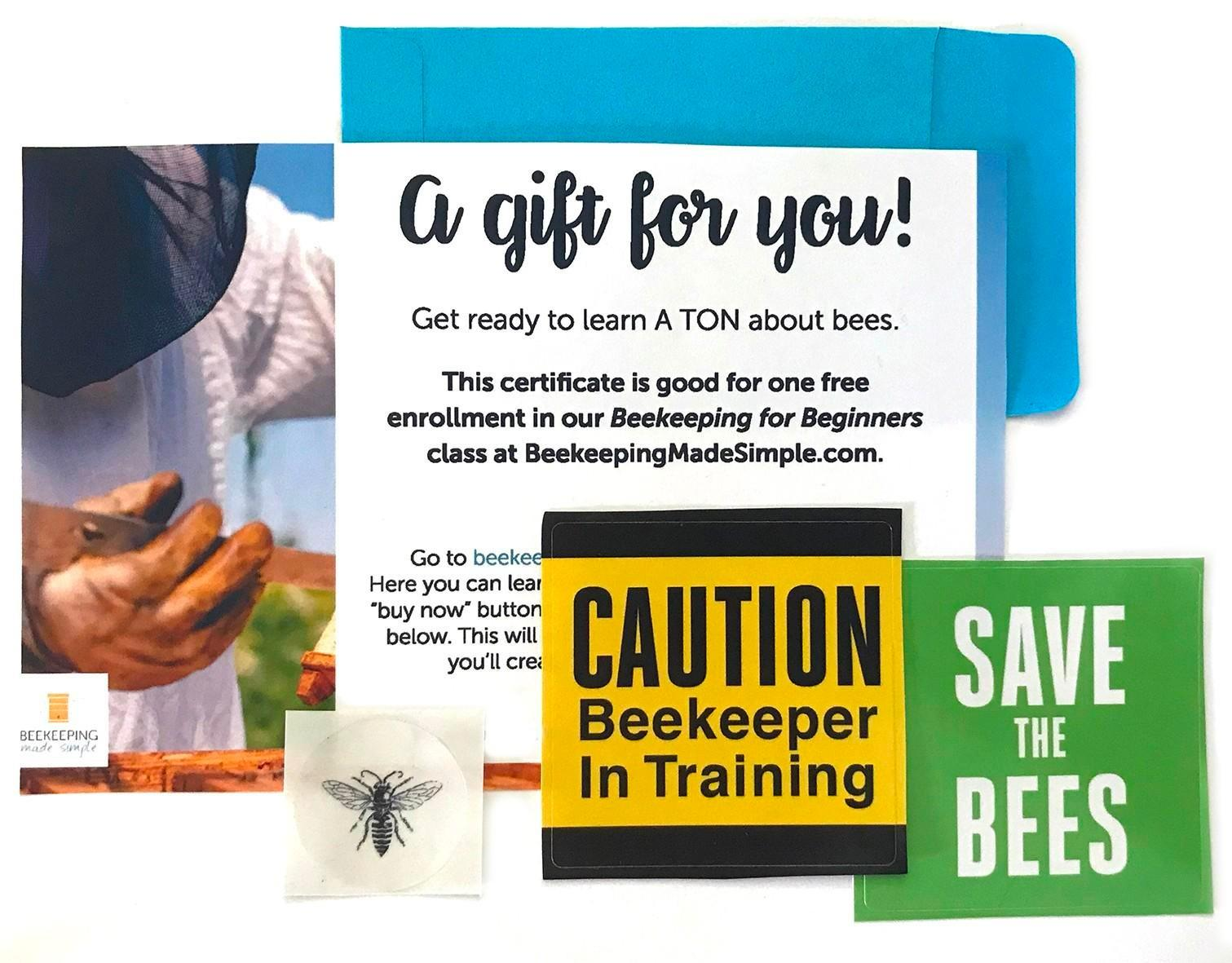 photo of free gift card for beekeeping class
