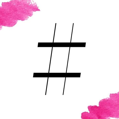 Hashtags for Pinterest