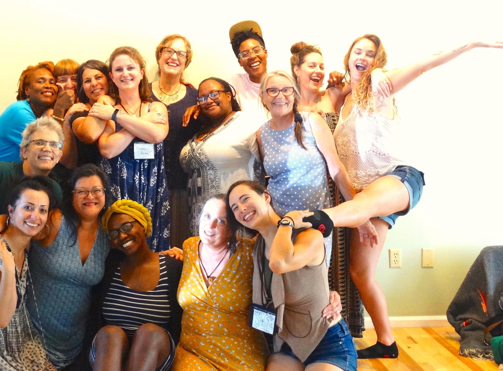 Saturday Studies students studying wise woman within with Red Moon Herbs and Southeast Wise Women founder Corinna Wood