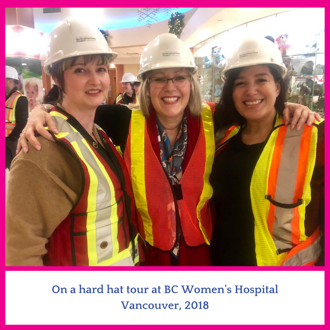 Group of 3 women in hard hats in Vancouver