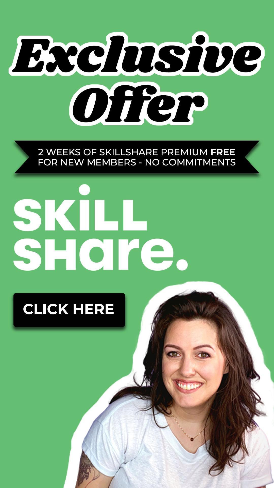 free skillshare trial