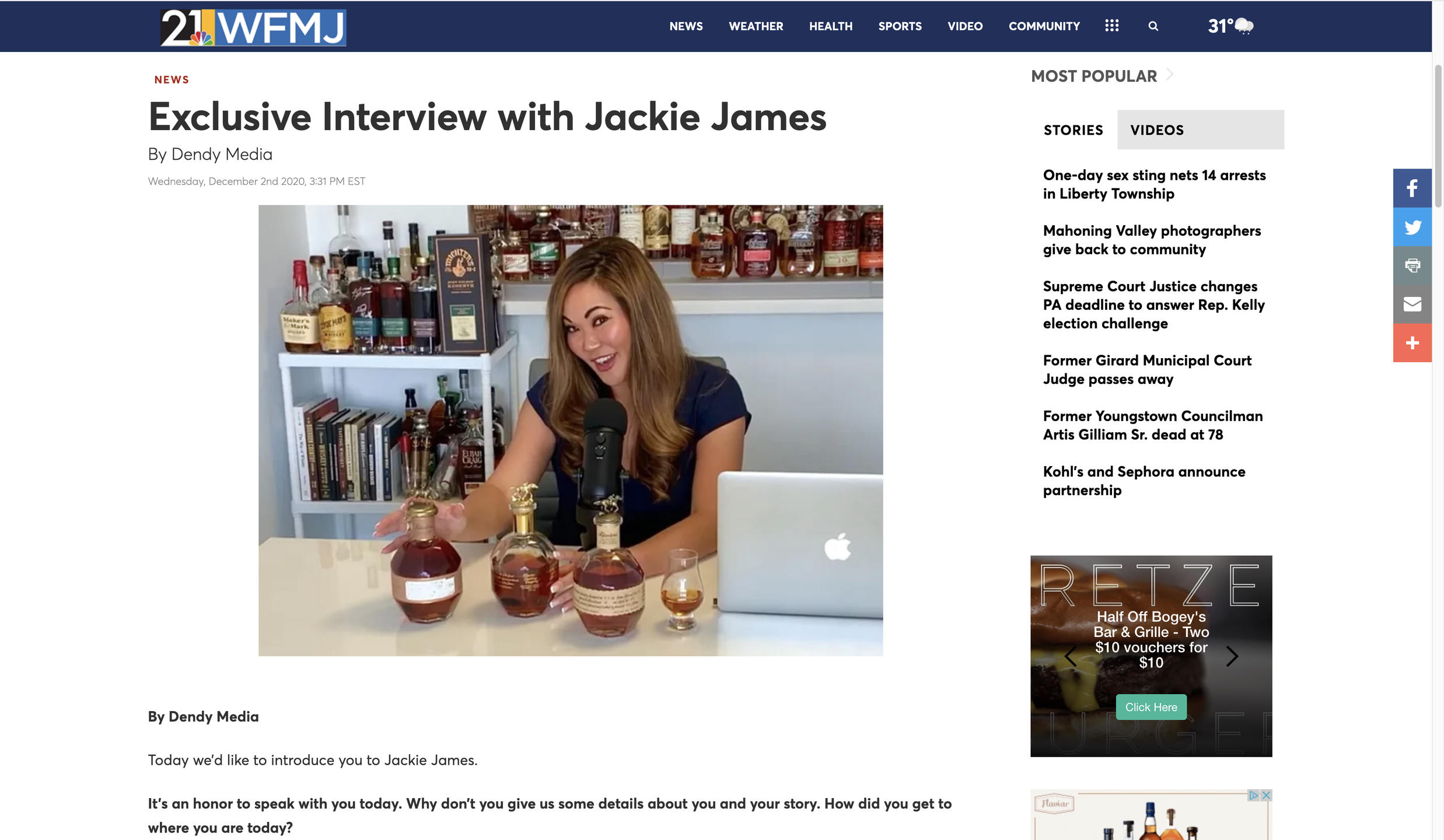 Jackie James Interview